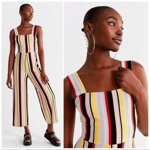 NWT UO Delany Straight-Neck Striped Jumpsuit